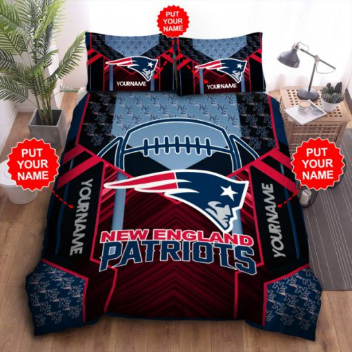 New England Patriots Personalized Bedding Set