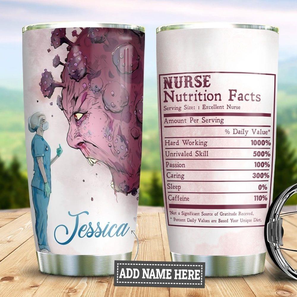 Nurse Nutrition Facts Tumbler
