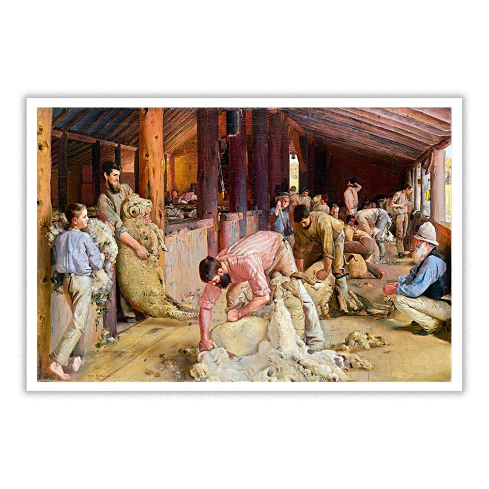 Shearing the Rams 1890s Poster