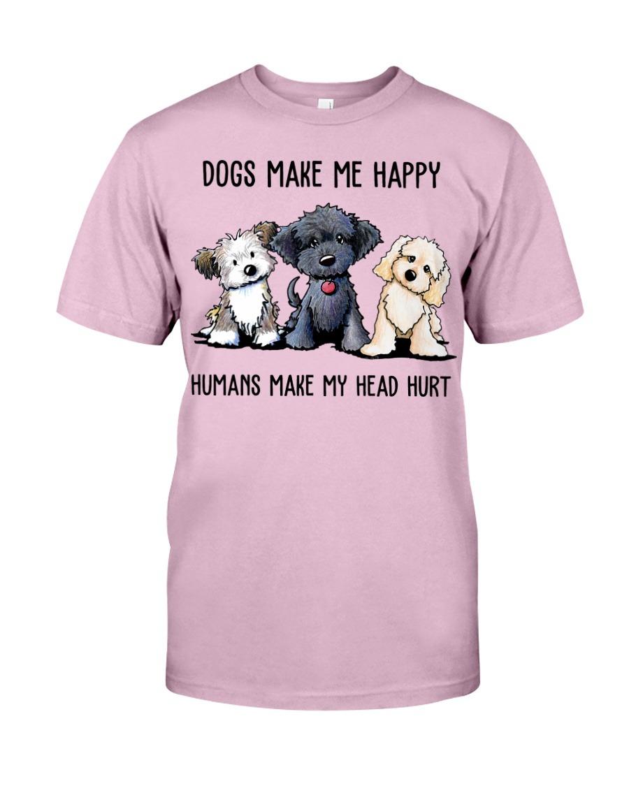 Shih Tzu Dogs Make Me Happy Humans Make My Head Hurt T-Shirt