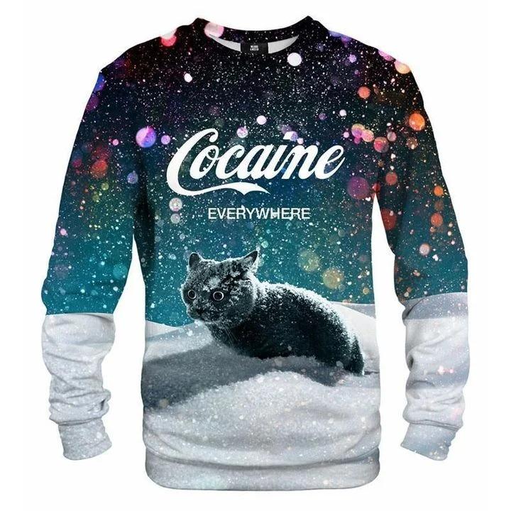 Where To Buy Snow Cat Cocaine Everywhere Sweatshirt