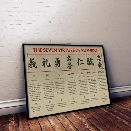 The Seven Virtues Of Bushido Samurai Poster 1