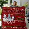 To My Daughter Whenever You Feel Overwhelmed Remember Whose Daughter You Are Christmas Mom Fleece Blanket