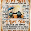 To My Wife Never Forget That I Love You Forever And Alway Fleece Blanket 5