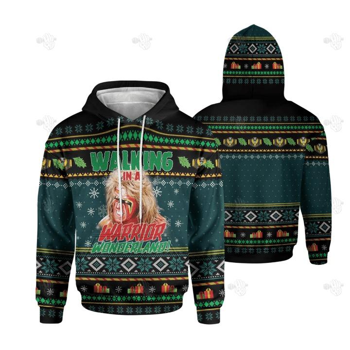 Walking In A Warrior Wonderland Christmas 3D hoodie