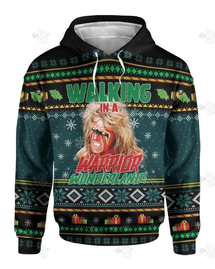 Walking In A Warrior Wonderland Christmas 3D hoodie1