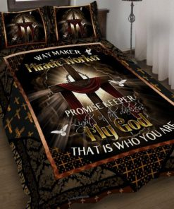 Way Maker Miracle Worker Promise Keeper Promise Keeper Light In The Darkness My God That Is Who You Are Jesus Cross Bedding Set