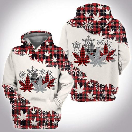 Weed Christmas 3D hoodie