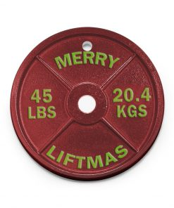 Weightlifting Merry Liftmas Christmas Ornament