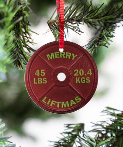 Weightlifting Merry Liftmas Christmas Ornament1