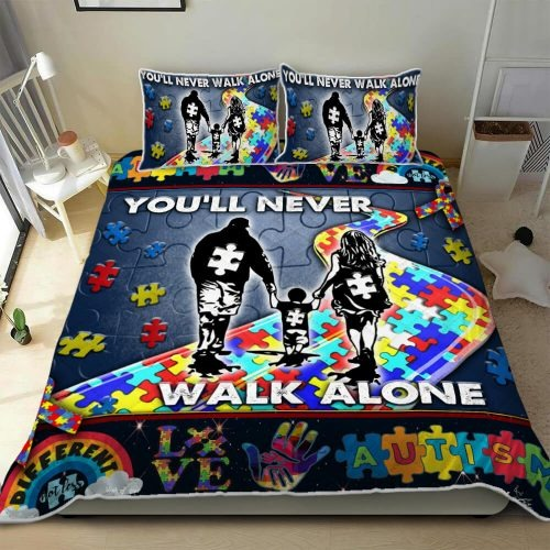 You'll Never Walk Alone Autism Bedding Set1