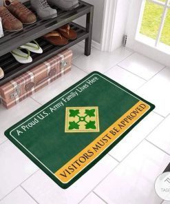 A Proud 4th Infantry Division Family Lives Here Visitors Must Be Approved Doormat