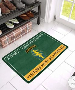 A Proud Airborne forces Family Lives Here Visitors Must Be Approved Doormat