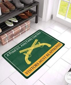 A Proud Military Family Lives Here Visitors Must Be Approved Doormat