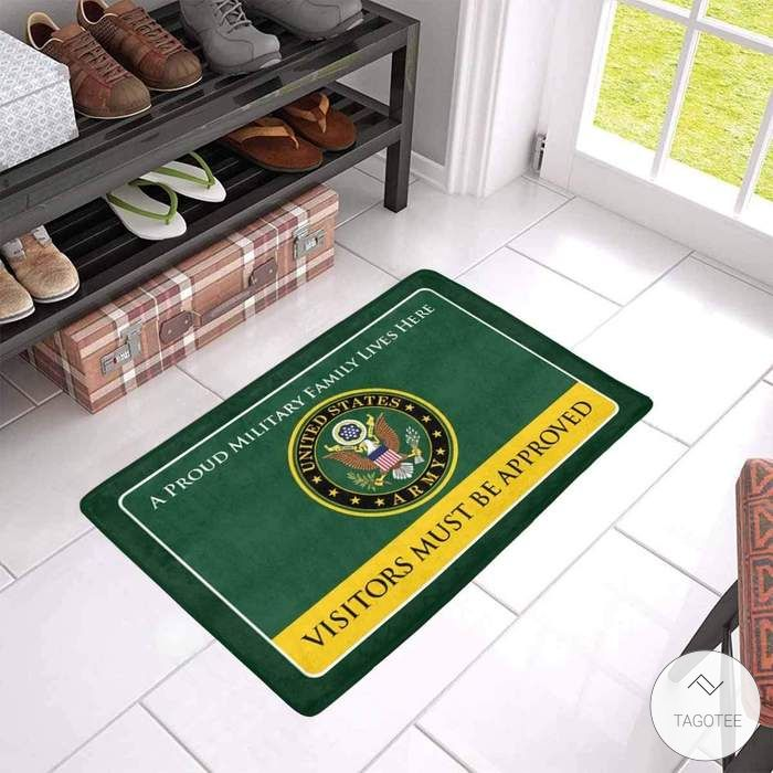 A Proud U.S. Army Public Health Family Lives Here Visitors Must Be Approved Doormat 2