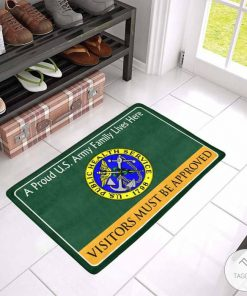 A Proud U.S. Army Public Health Family Lives Here Visitors Must Be Approved Doormat