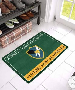 A Proud United States Army Security Agency Family Lives Here Visitors Must Be Approved Doormat