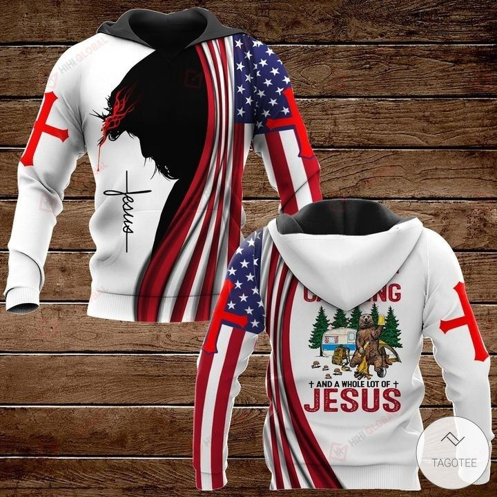 All I Need Today is A Little Bit of Camping and A Whole Lot of Jesus Hawaiian shirt, hoodies and sweatshirt2