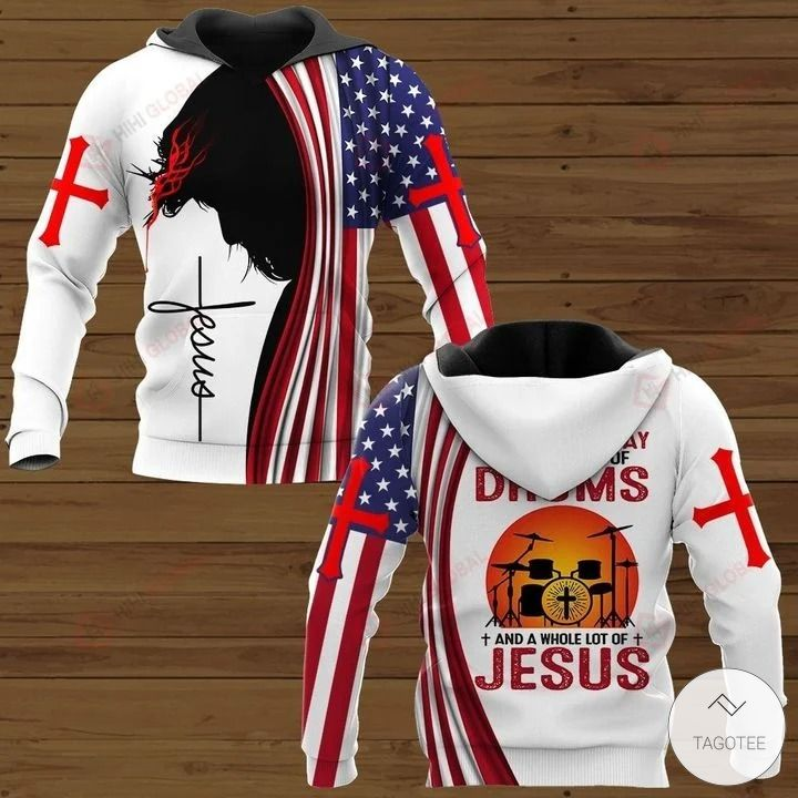 All I Need Today is A Little Bit of Drums and A Whole Lot of Jesus Hawaiian shirt, hoodies and sweatshirt2