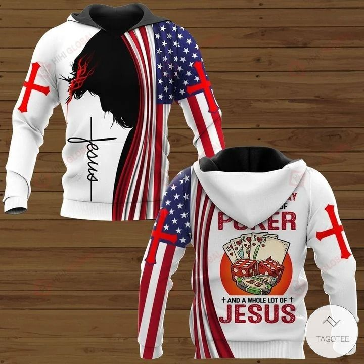 All I Need Today is A Little Bit of Poker and A Whole Lot of Jesus Hawaiian shirt, hoodies and sweatshirt2