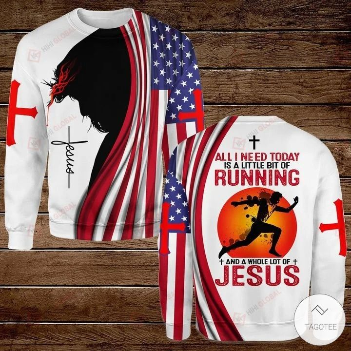 All I Need Today is A Little Bit of Running and A Whole Lot of Jesus Hawaiian shirt, hoodies and sweatshirt3