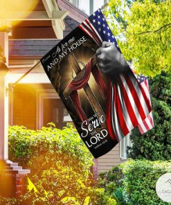 As For Me And My House We Will Serve The Lord Garden Flag