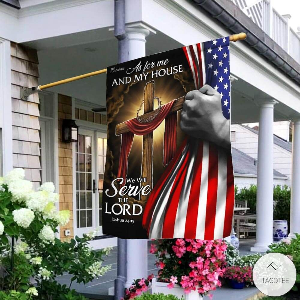 As For Me And My House We Will Serve The Lord Garden Flag2