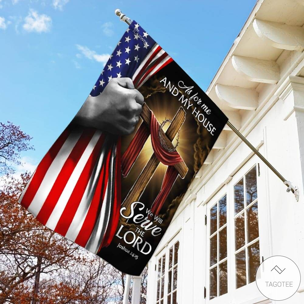 As For Me And My House We Will Serve The Lord Garden Flag3