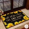 Ask not for whom the dog barks it barks for thee Sunflower Doormat