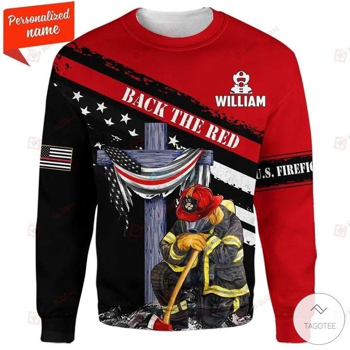 Back in the Red US Firefighter 3D hoodies, Sweatshirt, Hawaiian Shirt3