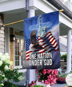 Bald Eagle One Nation Under God Garden Flag2