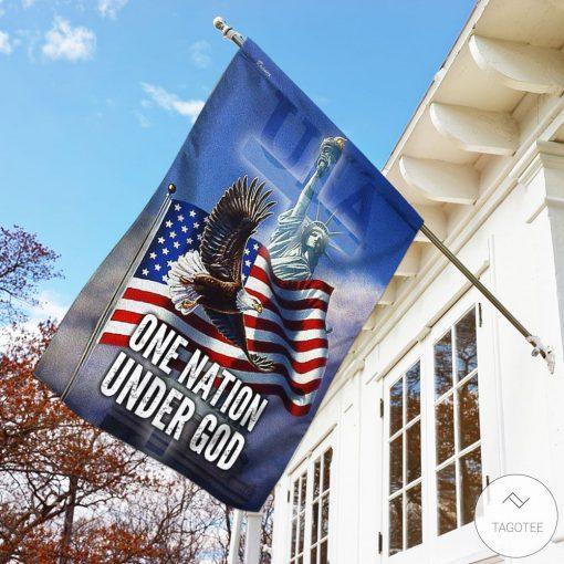 Bald Eagle One Nation Under God Garden Flag3