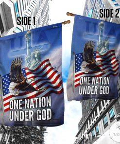 Bald Eagle One Nation Under God Garden Flag4