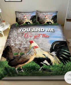 Chicken You and me got this bedding set