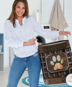 Dog Paw Iron Vintage Laundry Basket2_result