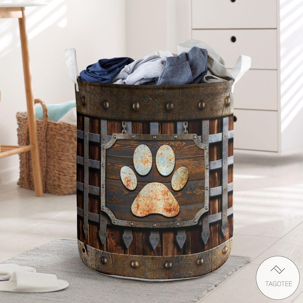 Dog Paw Iron Vintage Laundry Basket_result