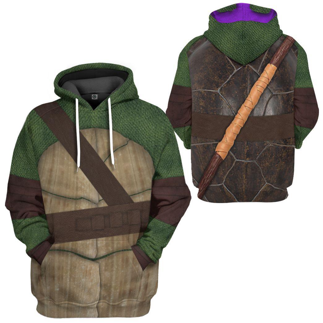 Donatello Teenage Mutant Ninja Turtles Custom 3D Hoodie