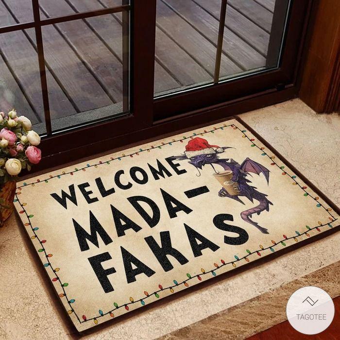 Dragon Santa Claus Welcome Mada-Fakas Doormat
