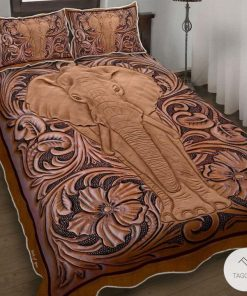 Elephant Wood Sculpture Bedding Sets_result