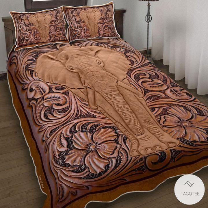 Elephant Wood Sculpture Bedding Sets_result