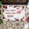 Flamingo Will Only Open For Beer Doormat