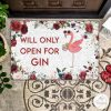 Flamingo Will Only Open For Gin Doormat