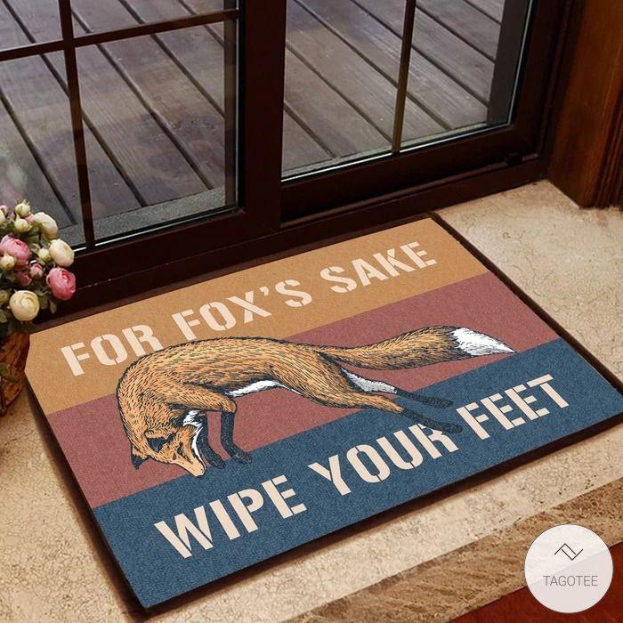 For Fox's Sake Wipe Your Feet Doormat