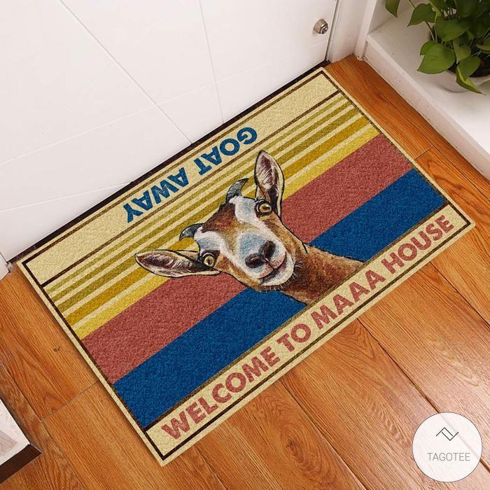 Goat Welcome To Maaa House Doormat