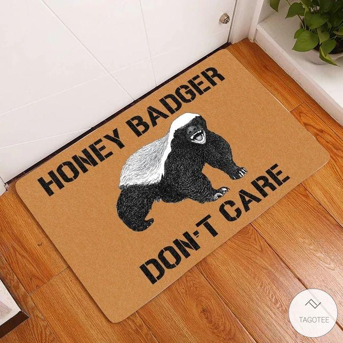 Honey Badger Don't Care Doormat