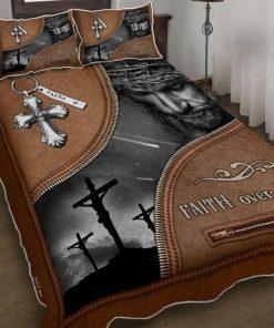 Jesus Christian Faith Over Fear Bedding Set