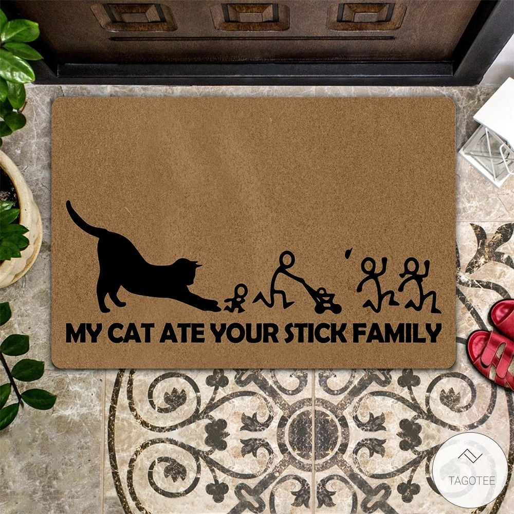 My Cat Ate Your Stick Family Doormat4_result