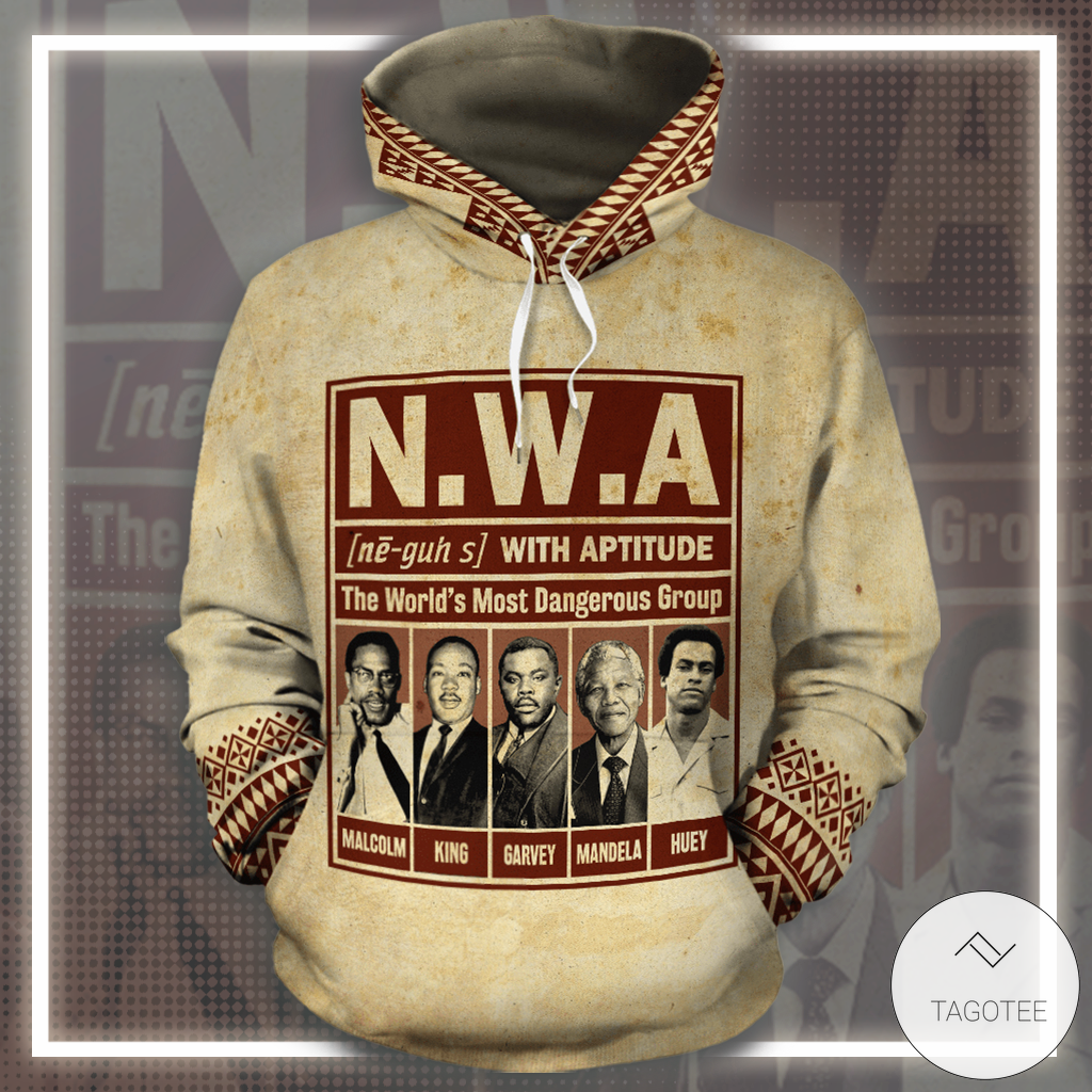 N.W.A with aptitude The World's Most Dangerous Group 3D Hoodie_result