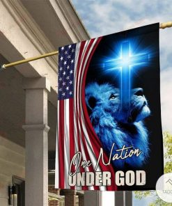 One Nation Under God Jesus Tiger Garden Flag