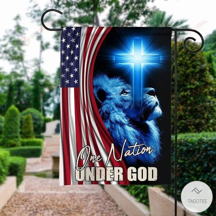 One Nation Under God Jesus Tiger Garden Flag2